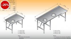 Stół sortowniczy kątowy lewy lo 312 - 1700x800 Lozamet