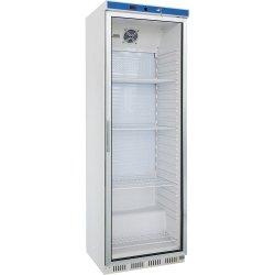 szafa chłodnicza ekspozycyjna 350 l, wnętrze z ABS, biała lakierowana