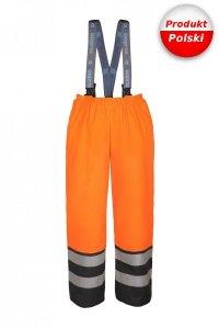 Spodnie do pasa z szelkami ostrzegawcze AQUAPROS model 4289