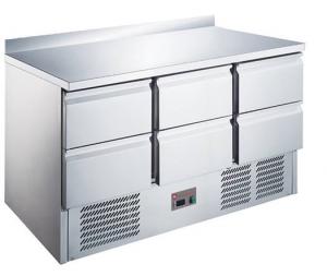 Stół chłodniczy   6 szuflad   RQS903-6D   1365x700x850 mm
