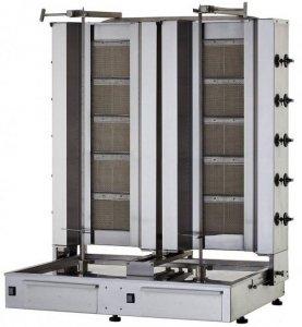 Gyros | opiekacz gazowy do kebaba podwójny | 5+5 palników | wsad 160kg  KLG225-T