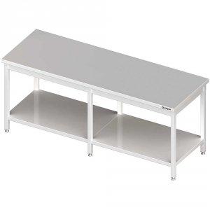 Stół centralny z półką 2500x800x850 mm spawany