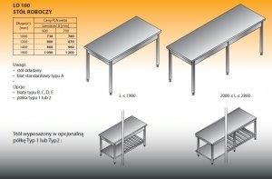 Stół roboczy lo 100 1900/700