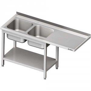 Stół ze zlewem 2-kom.(L) i miejscem na lodówkę lub zmywarkę 2300x600x900 mm