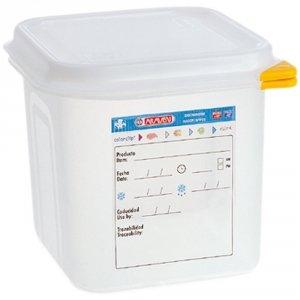 Pojemnik z polipropylenu z pokrywką szczelną, GN 1/6, H 150 mm