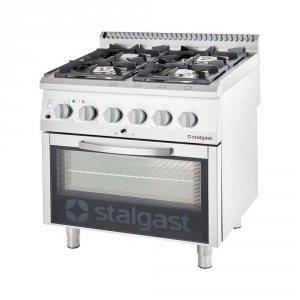 Kuchnia gazowa z piekarnikiem elektrycznym, 4-palnikowa, P 24 +7 kW, U G30