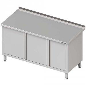 Stół przyścienny z szafką (P),drzwi skrzydłowe 1400x700x850 mm