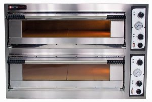Piec do pizzy elektryczny | dwukomorowy | 12x36 | szeroki | One 66 XL/L (Start66 BIG/L)