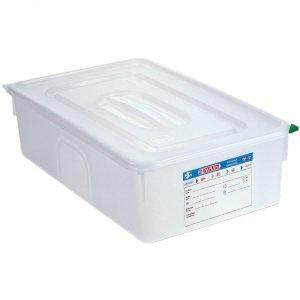 Pojemnik z polipropylenu z pokrywką szczelną, GN 1/1, H 200 mm