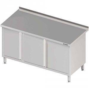 Stół przyścienny z szafką (L),drzwi skrzydłowe 1500x600x850 mm