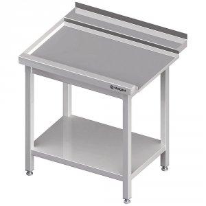 Stół wyładowczy(L), z półką do zmywarki STALGAST 1300x750x880 mm skręcany