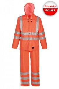 Ubranie kurtka 3/4 i spodnie ogrodniczki ostrzegawcze wodoochronne 1101/1011R Aj Group - PROS