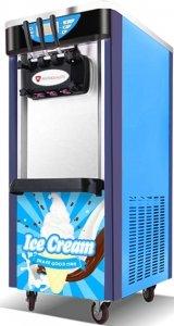 Maszyna do lodów włoskich   automat do lodów soft   nocne chłodzenie   2 smaki + mix   2x5,8l