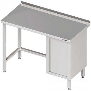 Stół przyścienny z szafką (P),bez półki 1600x600x850 mm