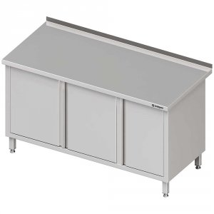 Stół przyścienny z szafką (P),drzwi skrzydłowe 1300x700x850 mm