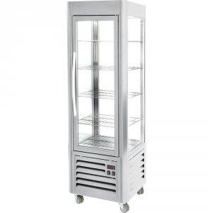 Witryna chłodnicza 7-poziomowa, 5 x ruszty chromowane 535 x 495 mm