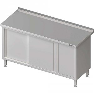 Stół przyścienny z szafką (P),drzwi suwane 1700x700x850 mm