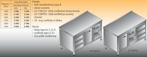 Stół roboczy z blokiem szuflad i szafką lo 138/s3 - 1900x700