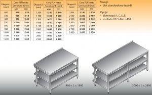 Stół roboczy lo 102/2 1900/600