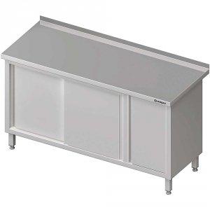 Stół przyścienny z szafką (P),drzwi suwane 1800x600x850 mm