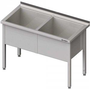 Stół z basenem 2-komorowym spawany 1500x600x850 mm h=400 mm