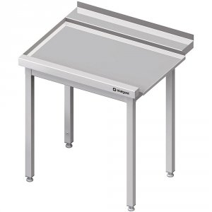 Stół wyładowczy(L), bez półki do zmywarki STALGAST 1000x750x880 mm spawany