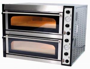 Piec do pizzy elektryczny | dwukomorowy | 12x36 | TOP 66 XL (TecPro66)