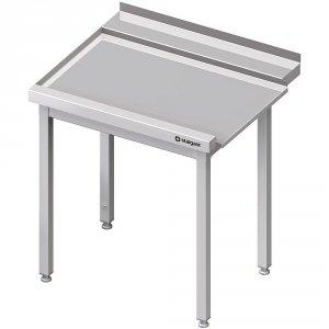 Stół wyładowczy(L), bez półki do zmywarki STALGAST 900x750x880 mm spawany