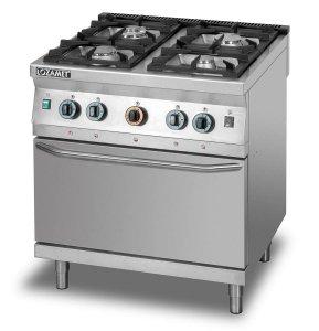 Kuchnia gazowa 4-palnikowa z piekarnikiem gazowym GN2/1 L900.KG4 PG Lozamet