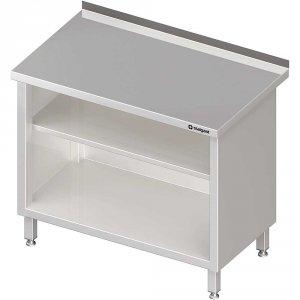 Stół przyścienny, zabudowany z 2-ma półkami 800x700x850 mm