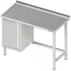 Stół przyścienny z szafką (L),bez półki 1700x600x850 mm