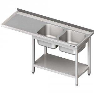 Stół ze zlewem 2-kom.(P) i miejscem na lodówkę lub zmywarkę 2400x600x900 mm