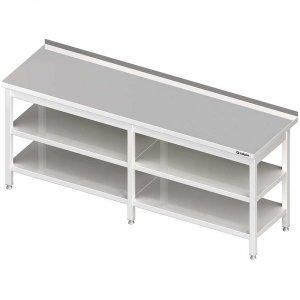 Stół przyścienny z 2-ma półkami 2500x700x850 mm spawany