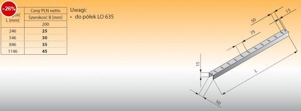 Szyna do półek lo 636 - 246x200