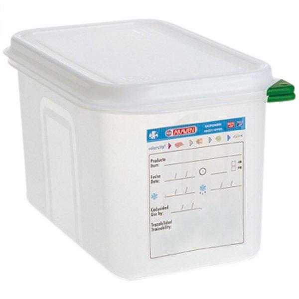 pojemnik z polipropylenu z pokrywką szczelną, GN 1/4, H 150 mm