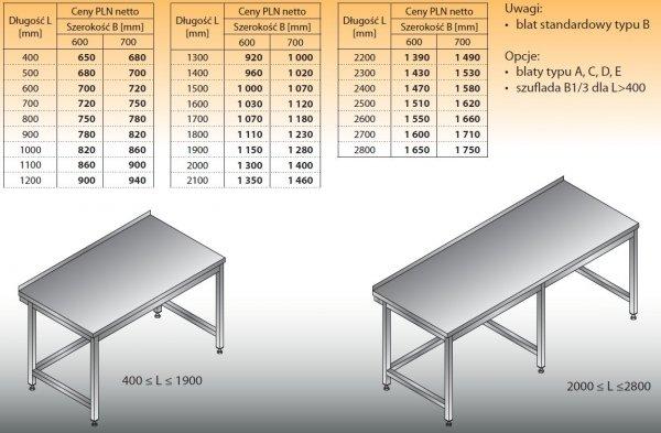 Stół roboczy lo 101 600/600
