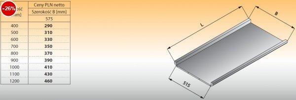 Płyta stołu przelotowego prostego lo 316 - 400x575 Lozamet