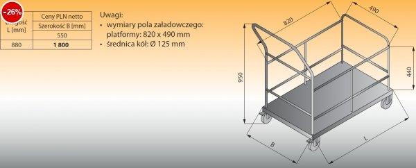 Wózek platformowy z barierkami lo 802 - 880x550