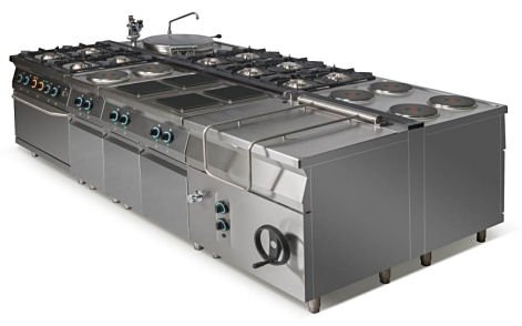Kuchnia gazowa 6-palnikowa L900.KG6 Lozamet