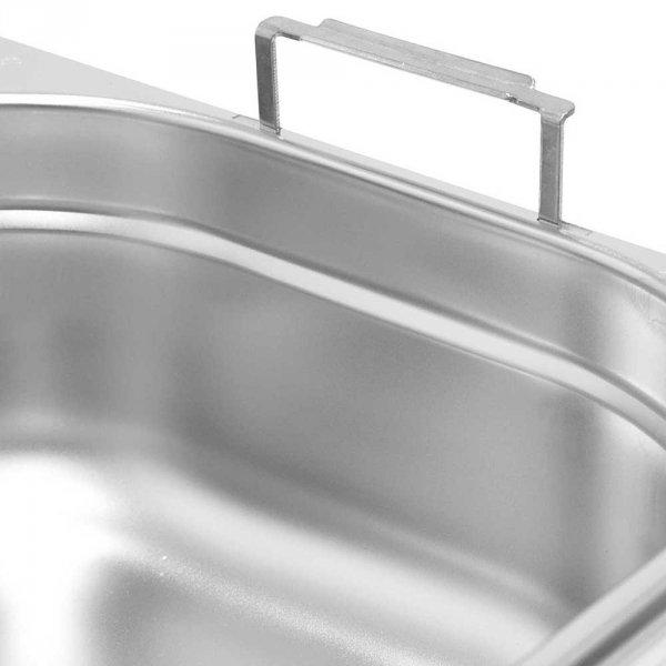 pojemnik stalowy z uchwytami, GN 2/3, H 200 mm