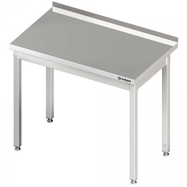 stół stalowy bez półki, przyścienny, skręcany, 800x600x850 mm