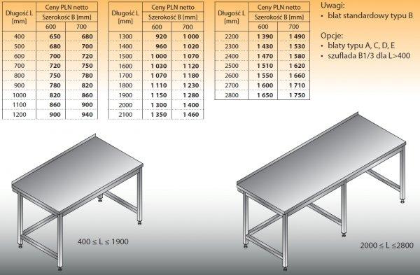 Stół roboczy lo 101 2700/700