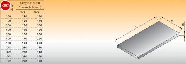 Półka łącząca do regałów lo 611 - 300x400