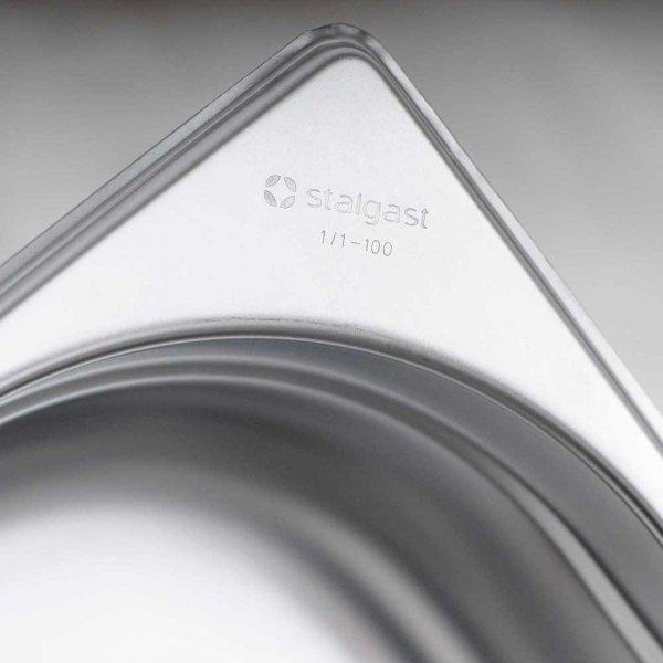 pojemnik stalowy, GN 1/6, H 100 mm