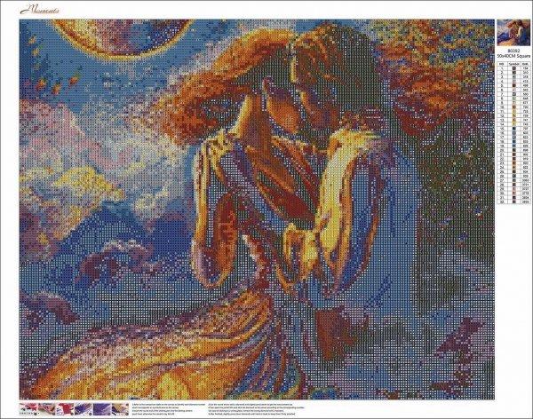 Haft Diamentowy Zakochana Para - Taniec 45x55 cm K