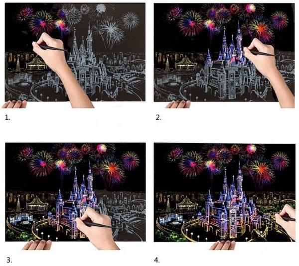 Magiczna Zdrapka Europejskie Miasta (4szt.) 30x21 cm