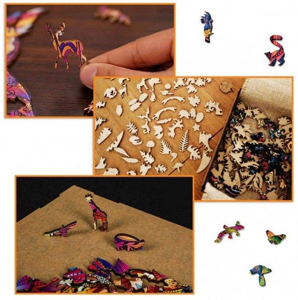Drewniane Puzzle Magiczna Rybka A4