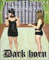 Dark Horn Collar Fem zestaw BDSM