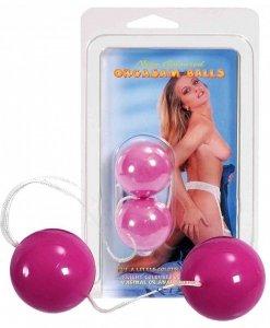 Różowe kulki gejszy Neon Orgasam Balls
