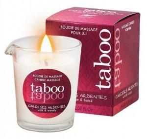 Taboo sauvage&boise świeczka do masażu o zapachu dzikiego lasu dla Niego